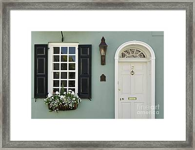 Charleston Doorway - D006767 Framed Print