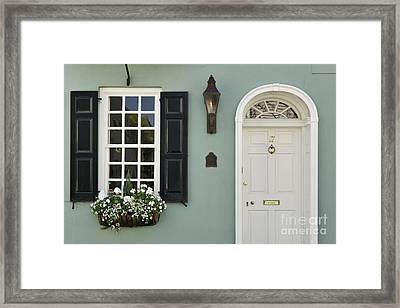 Charleston Doorway - D006767 Framed Print by Daniel Dempster