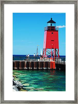 Charlevoix Light Framed Print by Janice Adomeit