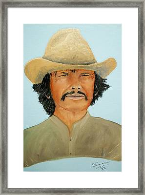 Framed Print featuring the painting Charlie Boy by Al  Johannessen