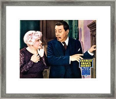Charlie Chans Secret, From Left Framed Print by Everett