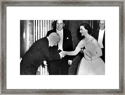 Charlie Chaplin Meeting Princess Framed Print by Everett