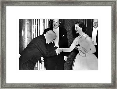 Charlie Chaplin Meeting Princess Framed Print by Everett