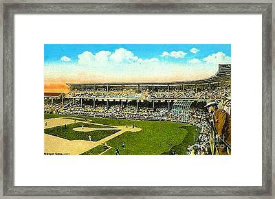 Charlie Comiskey Overlooking His Park In Chicago 1920 Framed Print by Dwight Goss