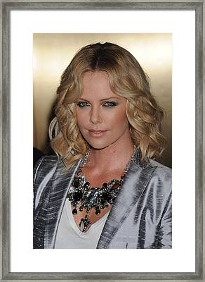 Charlize Theron At Arrivals For Conde Framed Print by Everett