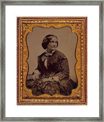 Charlotte Cushman 1816-1876, One Framed Print by Everett