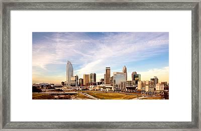Charlotte Nc Skyline Daylight Framed Print