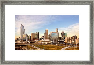 Charlotte Skyline At Daylight Framed Print by Patrick Schneider
