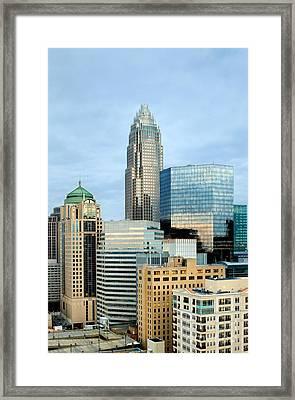 Charlotte Skyline In Daylight Framed Print