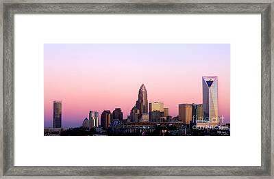 Charlotte Skyline Vibrant Pink Framed Print