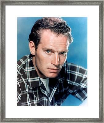 Charlton Heston, Ca. 1950s Framed Print by Everett