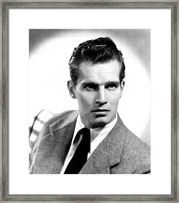 Charlton Heston, Ca Early 1950s Framed Print