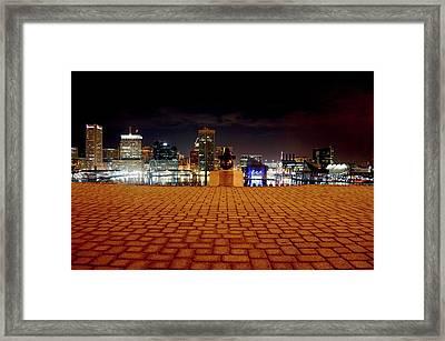 Charm City Skyline Framed Print
