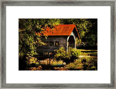 Charming Covered Bridge  Framed Print by Trudy Wilkerson