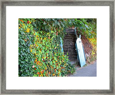 Framed Print featuring the photograph Charming Sausalito by Connie Fox