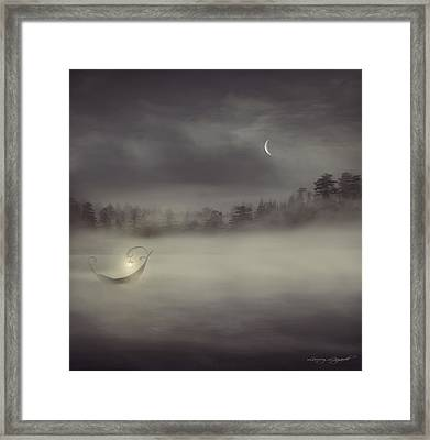 Charon's Boat Framed Print by Lourry Legarde