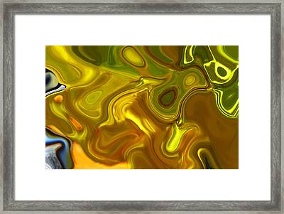 Framed Print featuring the digital art Chartreuse Series Abstract Xii by Ginny Schmidt