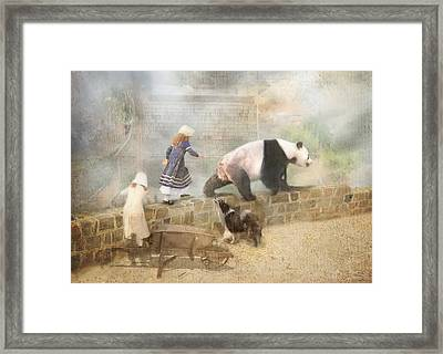 Chasing Childhood Dreams Framed Print by Trudi Simmonds