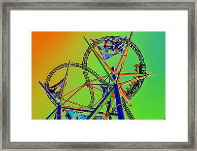 Chasing Prey Framed Print by David Lee Thompson