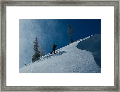 Chasing The Myth Of Sysiphus Framed Print by Robert Fullerton