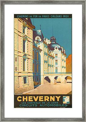Chateau De Cheverny Framed Print
