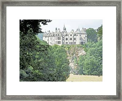 Framed Print featuring the drawing Chateau De Walzin Belgium by Joseph Hendrix