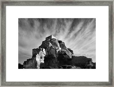 Chateau Des Baux Framed Print