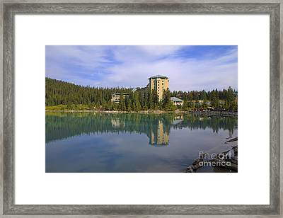 Chateau Lake Louise Framed Print by Teresa Zieba