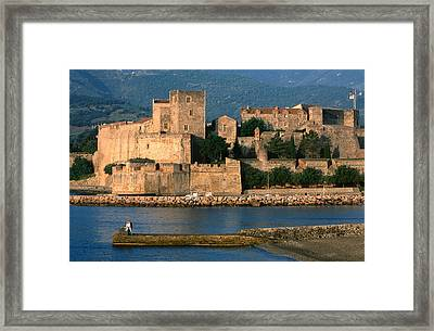 Chateau Royal, 13th Century Castle, Collioure, Languedoc-roussillon, France, Europe Framed Print by John Elk III