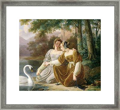 Chatelaines Framed Print by Pierre Henri Revoil