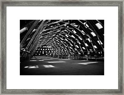 Chatham Dockyard Covered Slip No3 Framed Print