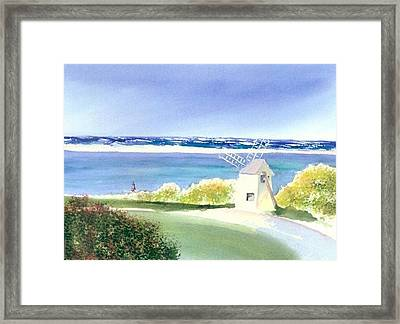 Chatham Harbor July Framed Print by Joseph Gallant