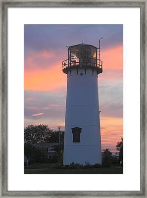 Chatham Lighthouse Tower Sunset Framed Print