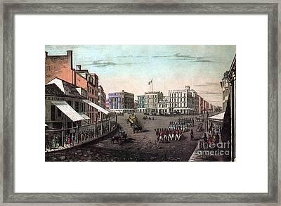 Chatham Square, New York, 19th Century Framed Print