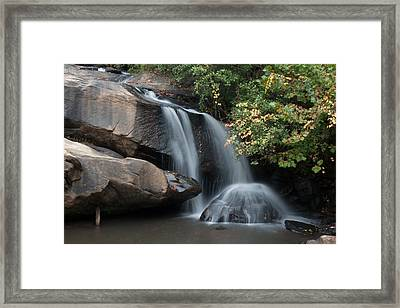 Framed Print featuring the photograph Chau-ram Falls by Lynne Jenkins