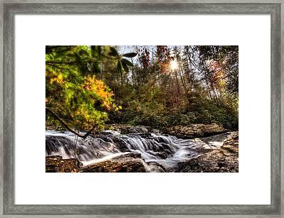 Chauga Narrows Waterfall Framed Print