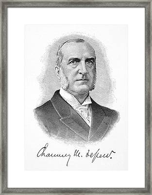 Chauncey Depew (1834-1928) Framed Print by Granger