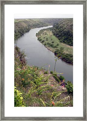 Chavon River View Framed Print by Chris Hill