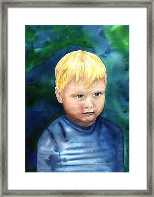 Framed Print featuring the painting Chayton by Sharon Mick