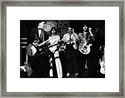 Cheap Trick, Rick Nielsen, Robin Framed Print by Everett