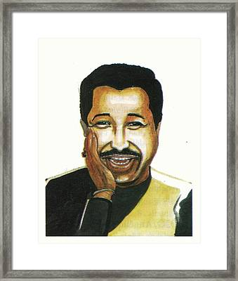 Cheb Khaled Framed Print