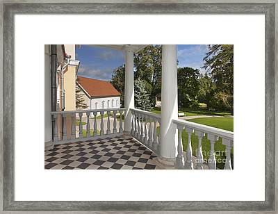 Checkerboard Patio Framed Print by Jaak Nilson