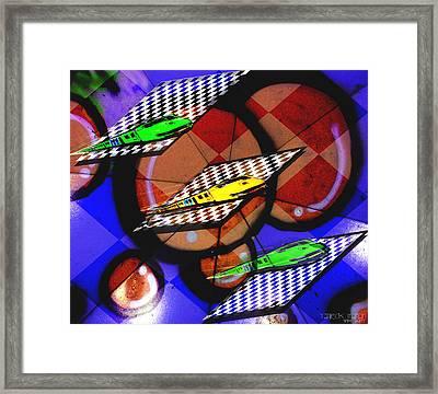 Checkerboard Playground Framed Print by Yvon van der Wijk