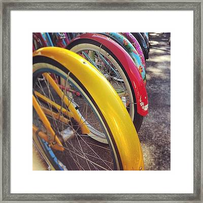 Checking Out #beachcrusiers For Framed Print