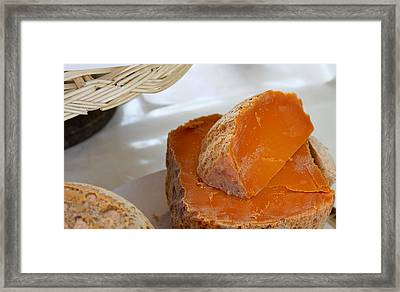 Cheddar Cheese In Paris Framed Print by Tony Grider