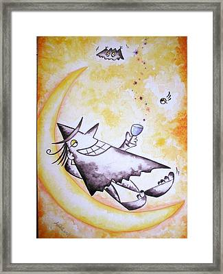 Cheer Up With Stars  Framed Print by Asida Cheng