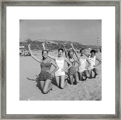 Cheerleader Practise Framed Print by Three Lions