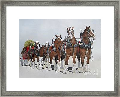 Cheers Framed Print by Jennifer  Donald