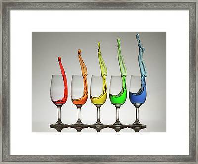 Cheers X5 Framed Print by William Lee