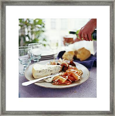 Cheese And Ham Meal Framed Print by David Munns